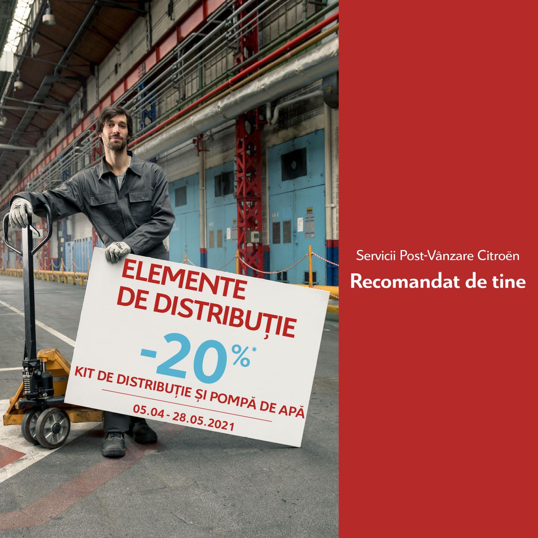 PROMOȚIE SERVICE: -20% la elemente de distribuție