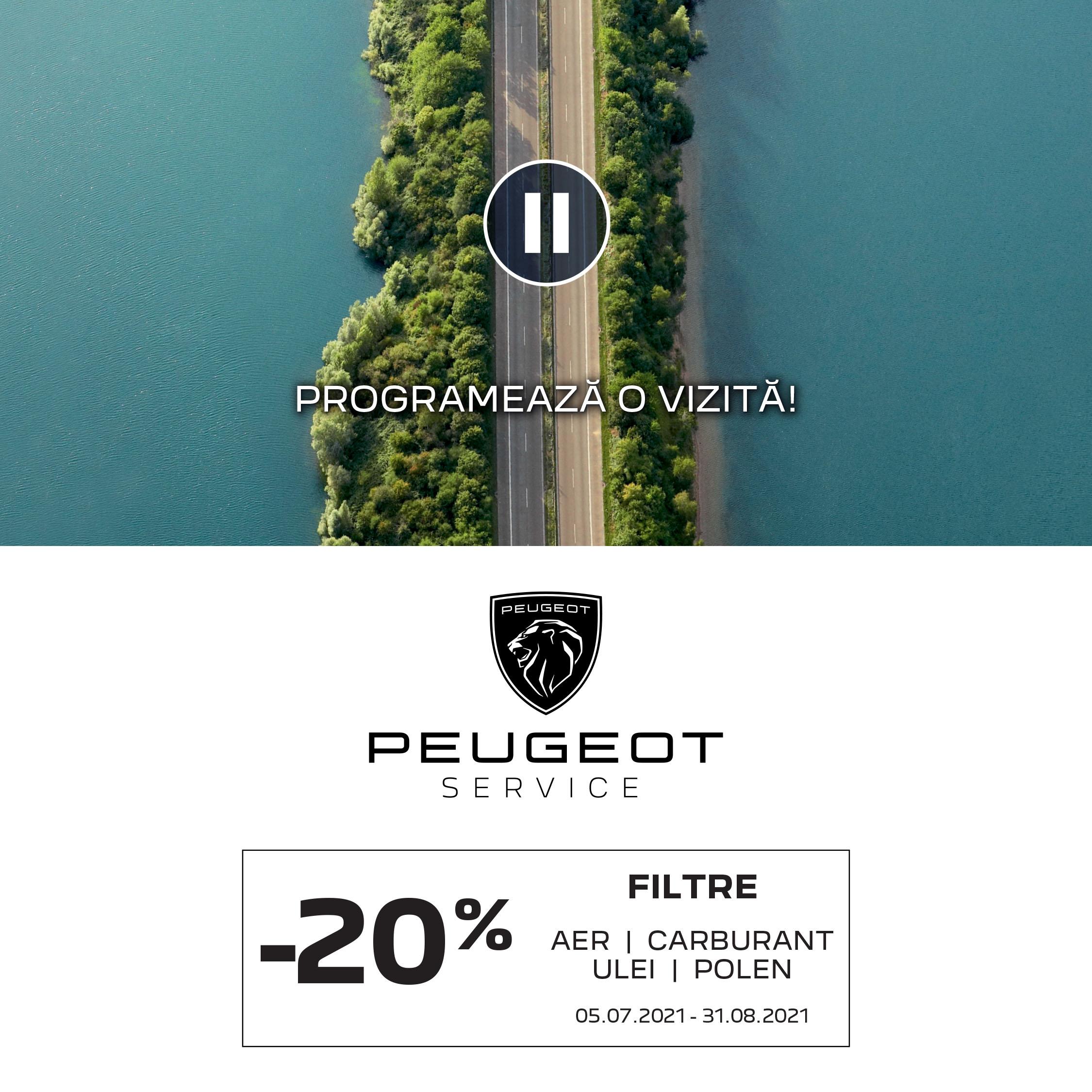 PROMOȚIE SERVICE: -20% la elemente de filtrare